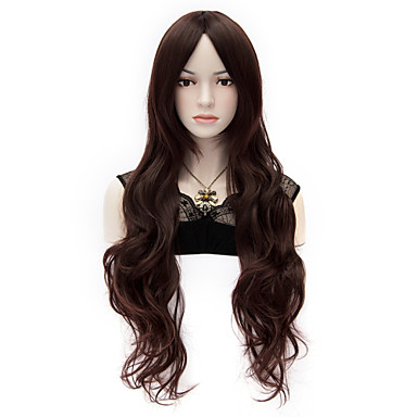 APH Black Tower Leah bay Niang Long Curly Dark Brown Hair Wig