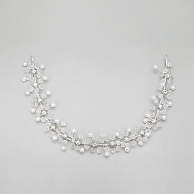 Women's Flower Girl's Rhinestone Alloy Imitation Pearl Headpiece-Wedding Special Occasion Headbands 1 Piece