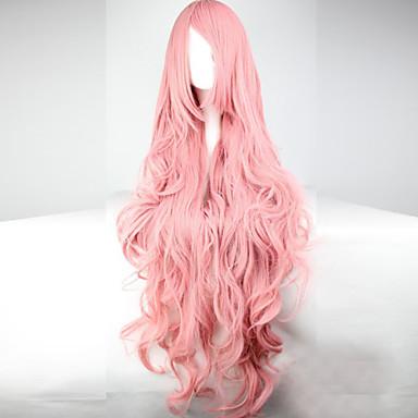 Парики из искусственных волос / Маскарадные парики Волнистый Ассиметричная стрижка / С чёлкой Искусственные волосы С Bangs Розовый Парик