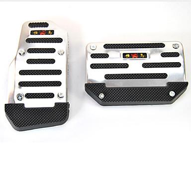 couverture automatique de la pédale de voiture de transmission lot de 2 (noir et argent)