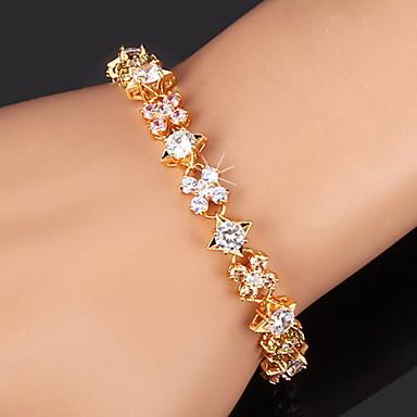 Damen Kubikzirkonia vergoldet Tennis Armbänder - Gold Silber Armbänder Für Weihnachts Geschenke Hochzeit Party
