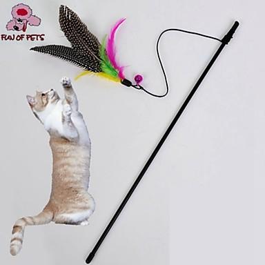 Игрушка для котов Игрушки для животных Дразнилки Игрушка с перьями Птица Для домашних животных