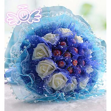 Wedding Flowers Bouquets Wedding Bead Polyester Satin Foam 15.75