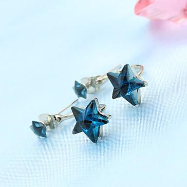 Naušnica Viseće naušnice Jewelry 1set Legura / Imitacija bisera / Kubični Zirconia Žene Crna / Plava