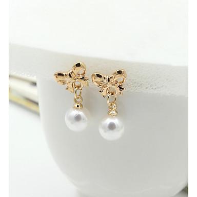 Damskie Kolczyki na sztyft Kolczyki wiszące Kryształ Modny Europejski Perłowy Imitacja pereł Kryształ górski Pozłacane 18K złoty Imitacja