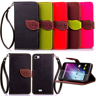 For Wiko Case Wallet / Card Holder / with Stand / Flip Case Full Body Case Solid Color Hard PU Leather Wiko