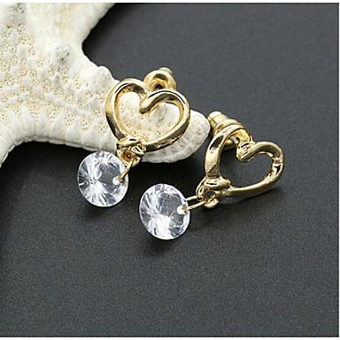 Κουμπωτά Σκουλαρίκια Κρυστάλλινο Στρας Επιχρυσωμένο 18K χρυσό απομίμηση διαμαντιών Μοντέρνα Κοσμήματα 2pcs