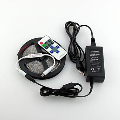 ZDM® 5m Bandes Lumineuses LED Flexibles 300 LED 1 11Keys Télécommande / Adaptateur 1 x 12V 3A Blanc Chaud / Blanc / Vert Découpable 1set