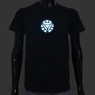 led t-shirt ses aktive led ışıkları pamuk yenilik kumaş çubuk için