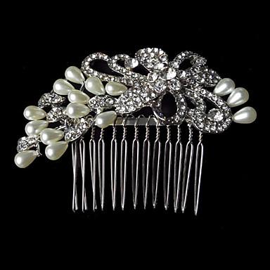 모조 진주 모조 다이아몬드 합금 머리 빗 머리 장식 우아한 작풍