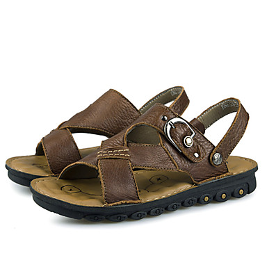 Men's Shoes Casual Sandals Black/Brown/Yellow