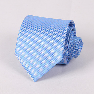 Men's Polyester Necktie, Grid Classic Party Wedding All Seasons