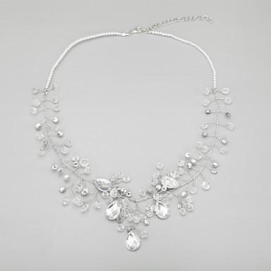 ieftine Coliere-Pentru femei Transparent Cristal Lănțișor Imitație de Perle Aliaj Transparent Coliere Bijuterii Pentru Nuntă Petrecere Aniversare Zi de Naștere Logodnă Cadou