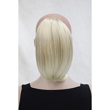 Κουμπωτό Ίσια Αλογορουρές Συνθετικός Κομμάτι μαλλιών Hair Extension 10 Ίντσες