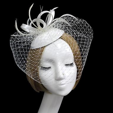 Σατέν Δίχτυ Γοητευτικά Βιτρίνα Πτηνών 1 Γάμου Ειδική Περίσταση Headpiece
