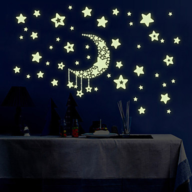 경치 로맨스 패션 모양 만화 Fantasy 벽 스티커 루미너스 월 스티커 데코레이티브 월 스티커 하이트 스티커, 비닐 홈 장식 벽 데칼