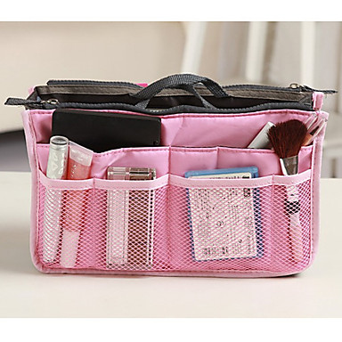 Travel Bag Travel Kit Travel Toiletry Bag Cosmetic Bag Insert Organizer Handbag Travel Luggage Organizer / Packing Organizer Waterproof