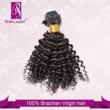 Человека ткет Волосы Бразильские волосы Kinky Curly 1 шт. волосы ткет