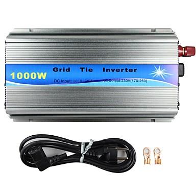 ızgara kravat invertör 18V 36 hücreleri üzerinde ızgara kravat invertör 1000w MPPT fonksiyonu saf sinüs dalgası 220v çıkış 18v giriş mikro