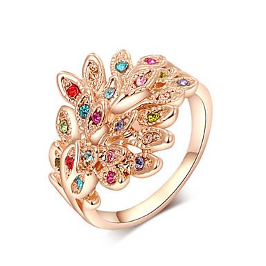 Damen Kubikzirkonia Statement-Ring - Modisch Gold / Silber Ring Für Party