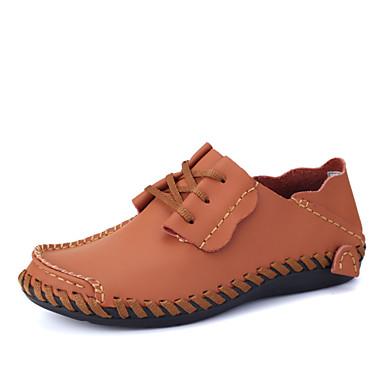 Homens sapatos Pele Napa Primavera Verão Outono Tênis Combinação para Preto Marron Castanho Escuro Cinzento Claro