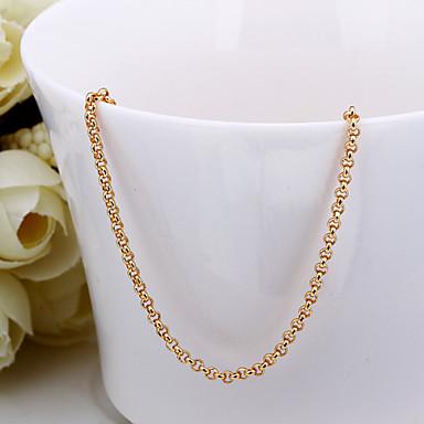 muoti käärme muoto valkoinen kullattu kupariseos rolo ketjun kaulakoru (kultaa, nousi kulta, valkokulta) (1kpl)