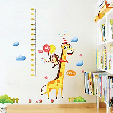 Wall Decal Διακοσμητικά αυτοκόλλητα τοίχου Αυτοκόλλητα Ύψους - Αεροπλάνα Αυτοκόλλητα Τοίχου Ζώα Χριστούγεννα Κινούμενα σχέδια