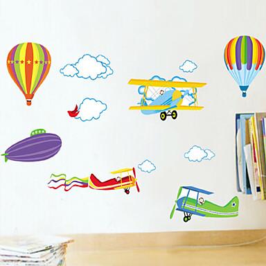 Állatok Romantika Divat Rajzfilm Falimatrica Repülőgép matricák Dekoratív falmatricák, PVC lakberendezési fali matrica Fal Glass /