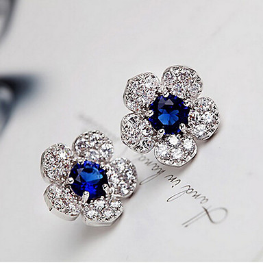 Vidali Küpeler Kristal Moda lüks mücevher Yapay Elmas alaşım Yeşil Mavi Mücevher Için 2pcs