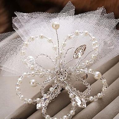 Künstliche Perle Blumen / Vogelkäfig Schleier mit 1 Hochzeit / Besondere Anlässe Kopfschmuck