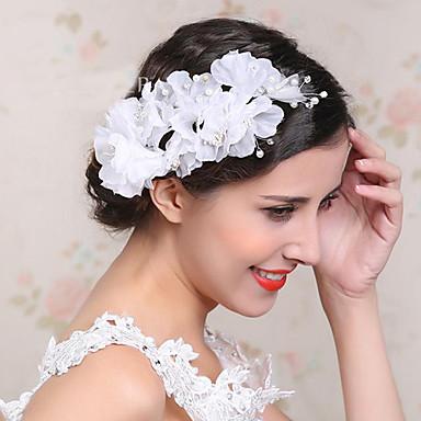 Kobiety Flower Girl Rhinestone Pearl imitacja Flanelowe Winieta-Ślub Piękny Kwiaty 1 sztuka