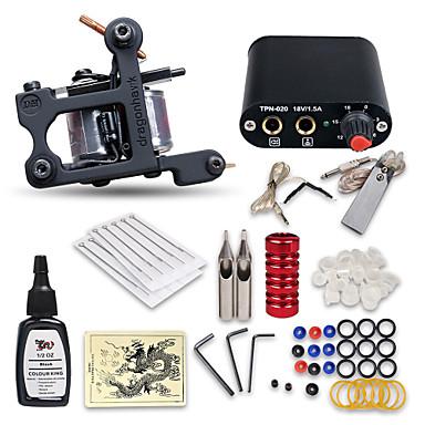 Tätowiermaschine Beginner Set 1 x Gusseisen-Tattoomaschine für Umrißlinien und Schattierung Professionell Gute Qualität Mini