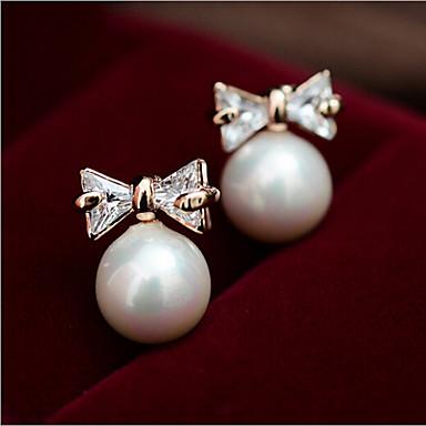 Κουμπωτά Σκουλαρίκια Μαργαριτάρι Απομίμηση Μαργαριταριού Όστρακο Κράμα Μοντέρνα Χρώμα Οθόνης Κοσμήματα 2pcs