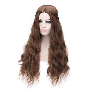 Cheveux Synthétiques Perruques Bouclé Sans bonnet Marron