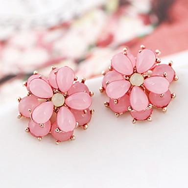 Cute Flower Diamante Alloy Stud Earrings