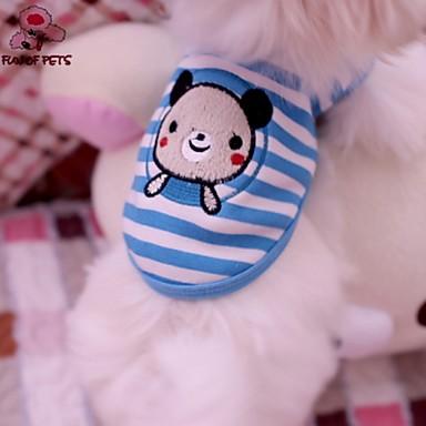 Kat Hund Trøye/T-skjorte Hundeklær Stribe Dyr Blå Bomull Kostume For kjæledyr Cosplay Bryllup