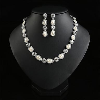 Collier/Boucles d'Oreille ( Alliage/Strass/Imitation Perle ) Vintage/Mignon/Soirée/Travail/Décontracté pour Femme