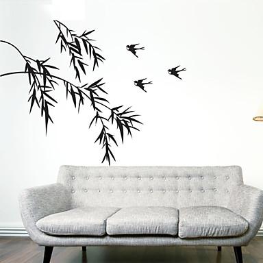 Animaux Botanique Bande dessinée Romance Stickers muraux Autocollants avion Autocollants muraux décoratifs Matériel Lavable Amovible