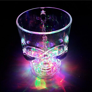 High Quality Creative Induction Colorful Flash Skull Cup Water (400ML Random Color)