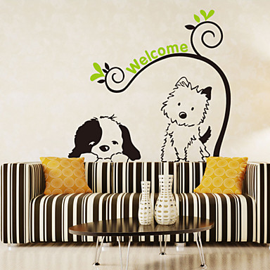 Decorative Wall Stickers - Plane Wall Stickers Animals / Romance / Fashion Living Room / Bedroom / Bathroom / Washable / Removable