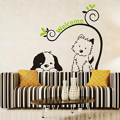 Tiere Romantik Mode Blumen Cartoon Design Wand-Sticker Flugzeug-Wand Sticker Dekorative Wand Sticker, PVC Haus Dekoration Wandtattoo Wand