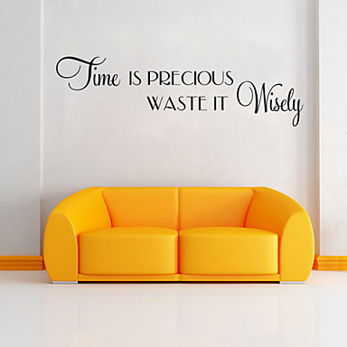 Wall Stickers Wall Decals Style Time English Words & Quotes PVC Wall Stickers