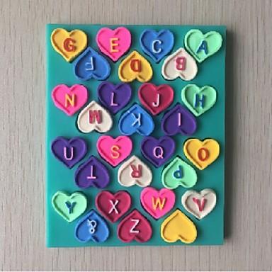 rakkauskirjeitä muotoinen konvehti kakku suklaa silikonimuottia koristelutyökalut bakeware