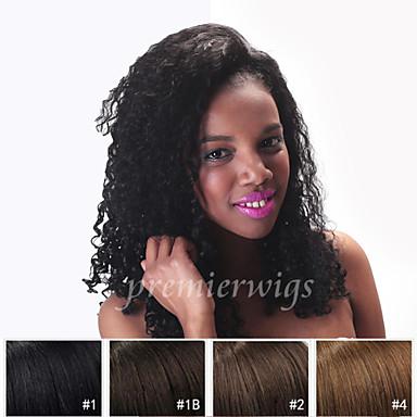Echthaar Vollspitze Perücke Kinky Curly 130% Dichte 100 % von Hand geknüpft Afro-amerikanische Perücke Natürlicher Haaransatz Kurz Medium