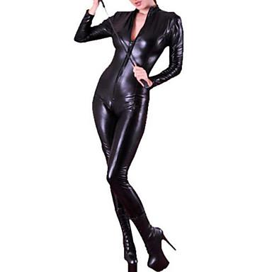Zentai Kıyafetleri Morphsuit Üniformalar Zentai Cosplay Kostümleri Siyah Solid Kedikıyafeti Kadın Cadılar Bayramı Yılbaşı Yeni Yıl