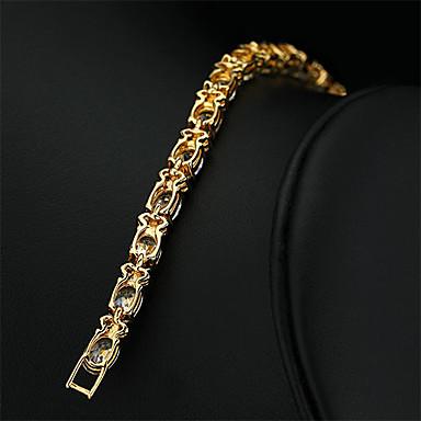 abordables Bracelet-Chaînes Bracelets Plaqué or Rétro Vintage Soirée Travail Simple Lien / Chaîne Coloré Bracelet Bijoux Blanc pour