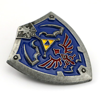Jóias Inspirado por The Legend of Zelda Fantasias Anime/Games Acessórios de Cosplay Crachá / Broche Azul Liga Masculino