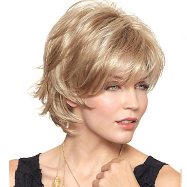 Συνθετικές Περούκες Κυματιστό Χωρίς κάλυμμα Συνθετικά μαλλιά