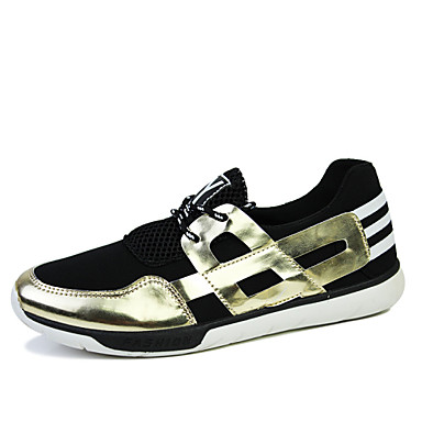 Men's Shoes Office & Career/Casual Canvas Fashion Sneakers Black/Blue/White