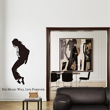 Dekorative Mur Klistermærker - Ord og sitater Wall Stickers Mennesker / Tegneserie / Ord & Citater Stue / Soverom / Baderom